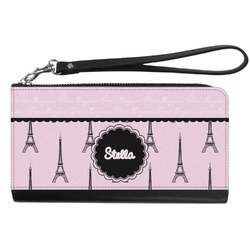 Paris & Eiffel Tower Genuine Leather Smartphone Wrist Wallet (Personalized)