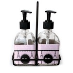 Paris & Eiffel Tower Soap & Lotion Dispenser Set (Glass) (Personalized)