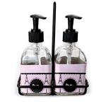 Paris & Eiffel Tower Soap & Lotion Dispenser Set (Glass) (Personalized)