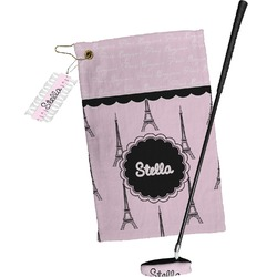 Paris & Eiffel Tower Golf Towel Gift Set (Personalized)