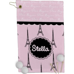 Paris & Eiffel Tower Golf Towel - Full Print (Personalized)