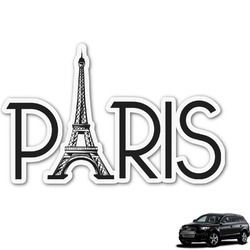 Paris & Eiffel Tower Graphic Car Decal (Personalized)