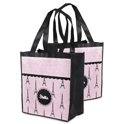 Paris & Eiffel Tower Grocery Bag (Personalized)