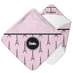 Paris & Eiffel Tower Hooded Baby Towel (Personalized)