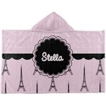 Paris & Eiffel Tower Kids Hooded Towel (Personalized)