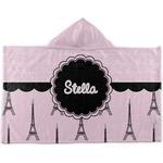 Paris & Eiffel Tower Kids Hooded Towel (Personalized)