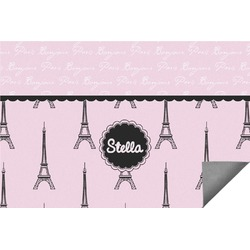 Paris & Eiffel Tower Indoor / Outdoor Rug (Personalized)