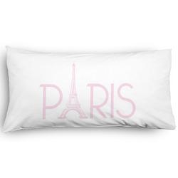 Paris & Eiffel Tower Pillow Case - King - Graphic (Personalized)