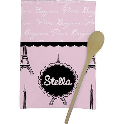 Paris & Eiffel Tower Kitchen Towel - Full Print (Personalized)