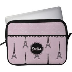 """Paris & Eiffel Tower Laptop Sleeve / Case - 12"""" (Personalized)"""