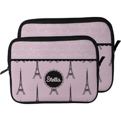 Paris & Eiffel Tower Laptop Sleeve / Case (Personalized)