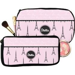 Paris & Eiffel Tower Makeup / Cosmetic Bag (Personalized)