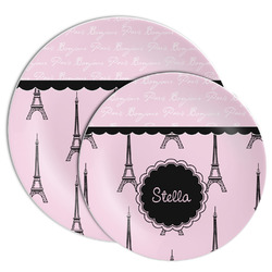 Paris & Eiffel Tower Melamine Plate (Personalized)