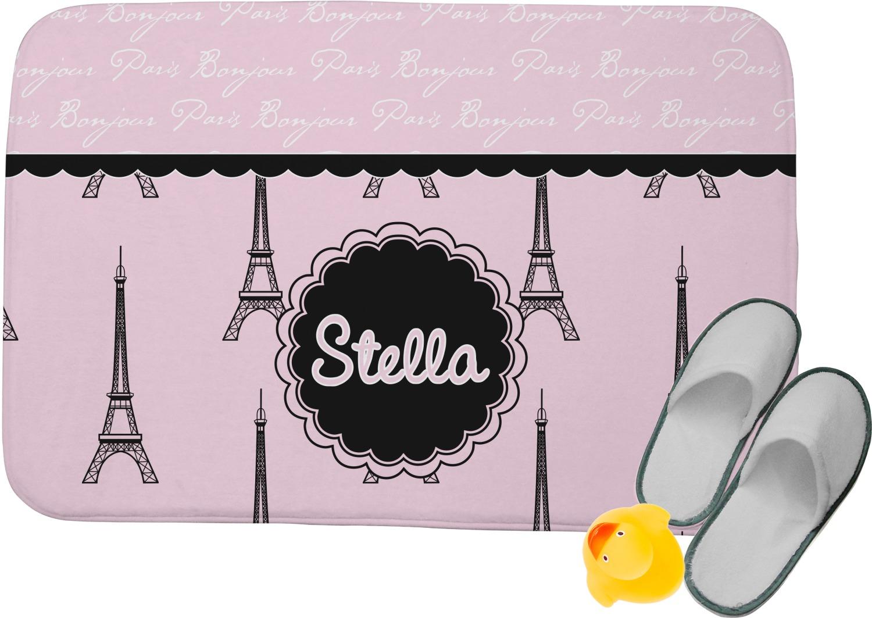 Paris Eiffel Tower Memory Foam Bath Mat Personalized Youcustomizeit