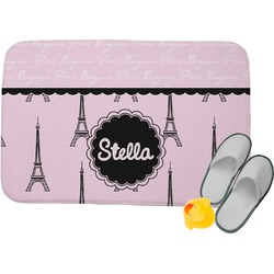 Paris & Eiffel Tower Memory Foam Bath Mat (Personalized)