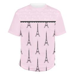 Paris & Eiffel Tower Men's Crew T-Shirt (Personalized)