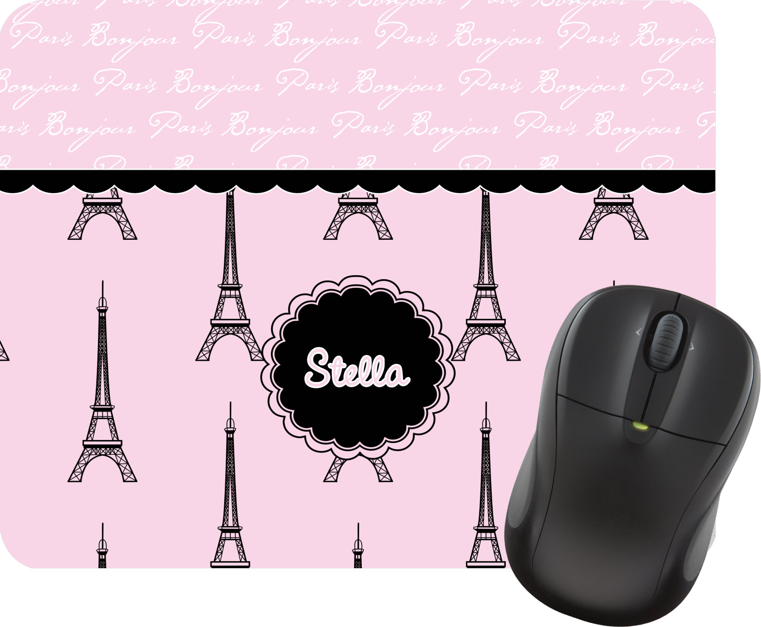 Paris Eiffel Tower Mouse Pad Personalized