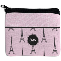 Paris & Eiffel Tower Rectangular Coin Purse (Personalized)