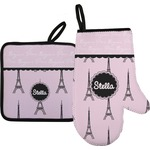 Paris & Eiffel Tower Oven Mitt & Pot Holder (Personalized)