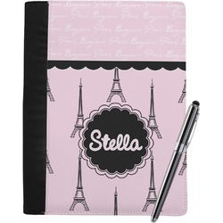 Paris & Eiffel Tower Notebook Padfolio (Personalized)