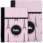 Paris & Eiffel Tower Notebook Padfolio w/ Name or Text