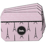 Paris & Eiffel Tower Dining Table Mat - Octagon w/ Name or Text
