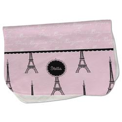 Paris & Eiffel Tower Burp Cloth - Fleece w/ Name or Text