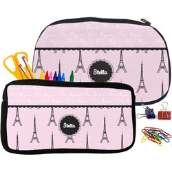 Paris & Eiffel Tower Pencil / School Supplies Bag (Personalized)