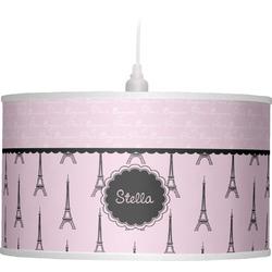 Paris & Eiffel Tower Drum Pendant Lamp (Personalized)