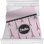 Paris & Eiffel Tower Minky Blanket (Personalized)