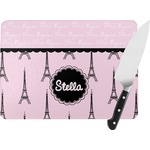 Paris & Eiffel Tower Rectangular Glass Cutting Board (Personalized)