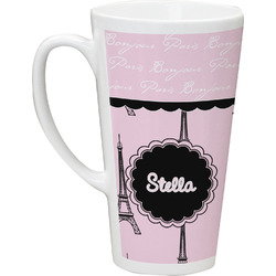 Paris & Eiffel Tower Latte Mug (Personalized)