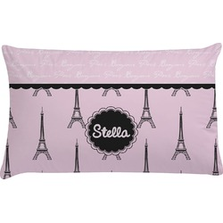 Paris & Eiffel Tower Pillow Case (Personalized)