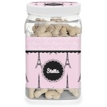 Paris & Eiffel Tower Dog Treat Jar (Personalized)