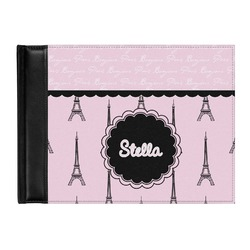 Paris & Eiffel Tower Genuine Leather Guest Book (Personalized)