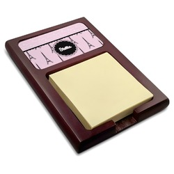 Paris & Eiffel Tower Red Mahogany Sticky Note Holder (Personalized)