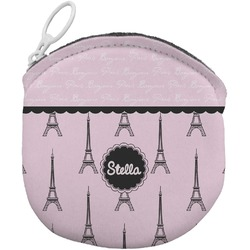 Paris & Eiffel Tower Round Coin Purse (Personalized)