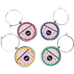 Paris & Eiffel Tower Wine Charms (Set of 4) (Personalized)