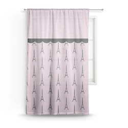 "Paris & Eiffel Tower Sheer Curtain - 50""x84"" (Personalized)"