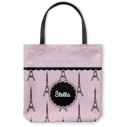 Paris & Eiffel Tower Canvas Tote Bag (Personalized)