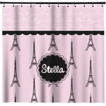 Paris & Eiffel Tower Shower Curtain (Personalized)