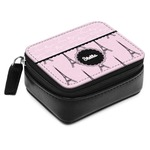 Paris & Eiffel Tower Small Leatherette Travel Pill Case (Personalized)