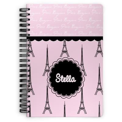 Paris & Eiffel Tower Spiral Notebook (Personalized)
