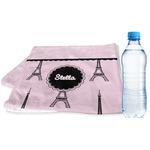 Paris & Eiffel Tower Sports & Fitness Towel (Personalized)