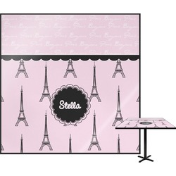 Paris & Eiffel Tower Square Table Top (Personalized)