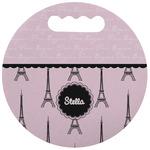 Paris & Eiffel Tower Stadium Cushion (Round) (Personalized)