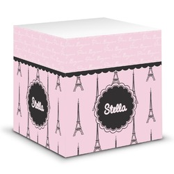 Paris & Eiffel Tower Sticky Note Cube (Personalized)