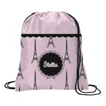 Paris & Eiffel Tower Drawstring Backpack (Personalized)