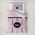 Paris & Eiffel Tower Toddler Bedding w/ Name or Text