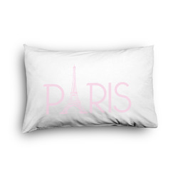 Paris & Eiffel Tower Pillow Case - Toddler - Graphic (Personalized)